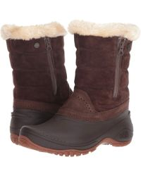The North Face - Shellista Iii Pull-on (coffee Bean Brown/cargo Khaki) Women's Boots - Lyst