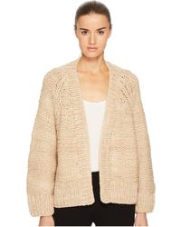 Vince - Hand Knit Chunky Cardigan - Lyst