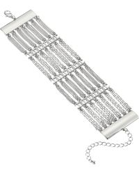 Steve Madden - Casted Layered Curb Chain Bracelet - Lyst