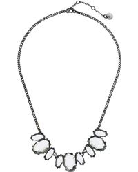 French Connection - Small Stone Frontal Necklace 16 (aqua) Necklace - Lyst