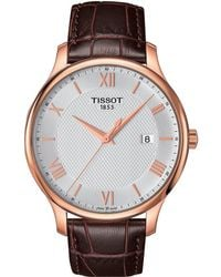 Tissot - Tradition - T0636103603800 (mother-of-pearl/brown) Watches - Lyst