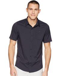 Travis Mathew - Go Vertical Woven Shirt (black) Men's Short Sleeve Knit - Lyst