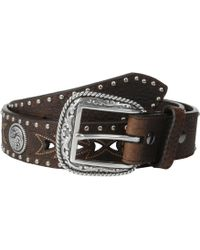Ariat - Arrow Pierced Concho Belt (brown) Men's Belts - Lyst