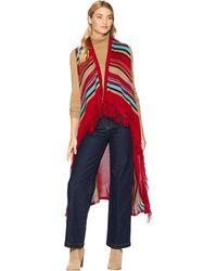 Scully - Candi Fun Fringe Sweater Vest (serape) Women's Vest - Lyst
