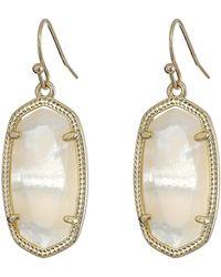 Kendra Scott - Dani Earrings (rhodium/white) Earring - Lyst
