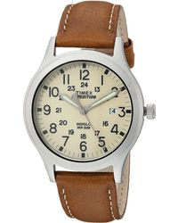 Timex - Expedition Scout 36 Leather Strap - Lyst