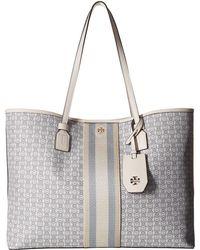 65cb3ed14b79 Tory Burch - Gemini Link Canvas Tote (new Ivory) Handbags - Lyst