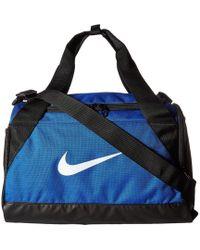 Nike - Brasilia Duffel Extra Small (flint Grey/black/white) Duffel Bags - Lyst