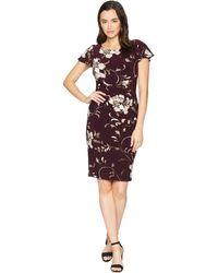 Lauren by Ralph Lauren - Chelsea Rigley Floral Dress (passion Blue Multi) Women's Dress - Lyst