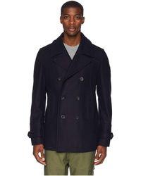 Belstaff - Durdan Mid-weight Wool Melton Peacoat (ink Blue) Men's Coat - Lyst