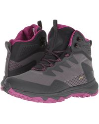 The North Face - Ultra Fastpack Iii Mid Gtx(r) (dark Shadow Grey/wild Aster Purple) Women's Shoes - Lyst