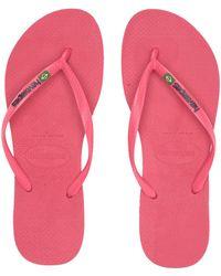 0f30907a21a Havaianas - Slim Brazil Flip-flops (flamingo) Women s Sandals - Lyst