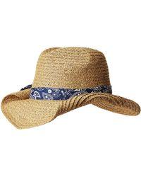 San Diego Hat Company - Pbc2451 Paper Cowboy W/ Bandana Print Band - Lyst