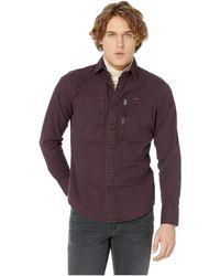 G-Star RAW - Powel Slim Shirt Long Sleeve (dark Black) Men s Clothing ae9a60a5c