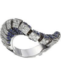 Miseno - Ventaglio 18k Gold/diamond/sapphire Ring - Lyst