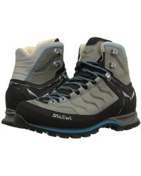 Salewa - Mountain Trainer Mid L (pewter/ocean) Women's Shoes - Lyst