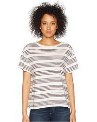 Pendleton - Soft Stripe Cotton Tee (marshmallow/winetasting) Women's T Shirt - Lyst