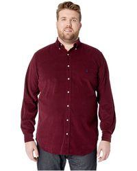 Polo Ralph Lauren - Big Tall Corduroy Sportshirt (polo Black) Men's Clothing - Lyst