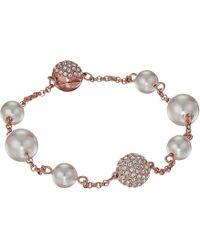Swarovski - Remix Collection Mixed White Crystal Pearl Bracelet (light Multi) Bracelet - Lyst
