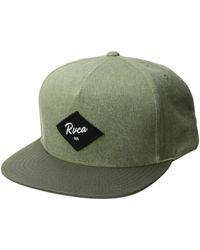 e0cce5704ad RVCA - Wilshire Snapback Hat (fatigue) Baseball Caps - Lyst