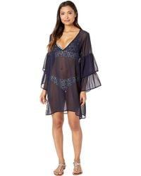 0ef036403fce MICHAEL Michael Kors - Urban Gypsy Ruffle Sleeve Cover-up (black) Women s  Swimwear