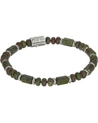 John Hardy - Classic Chain Bead Bracelet With Dragon Blood Jasper (silver) Bracelet - Lyst