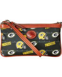 Dooney & Bourke - Nfl Nylon Large Slim Wristlet (red/tan/49ers) Wristlet Handbags - Lyst