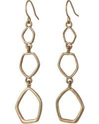 The Sak - Metal Triple Drop Earrings (gold) Earring - Lyst