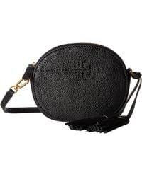 Tory Burch - Mcgraw Round Crossbody (black) Cross Body Handbags - Lyst