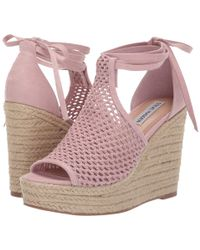 acadb631c1dd Steve Madden - Sure Wedge Sandal (blush) Women s Wedge Shoes - Lyst