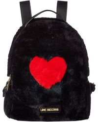 Love Moschino - Faux Fur Backpack W/ Heart Design (camel) Backpack Bags - Lyst