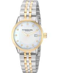 Raymond Weil - Freelancer - 5629-stp-97081 (yellow/silver) Watches - Lyst