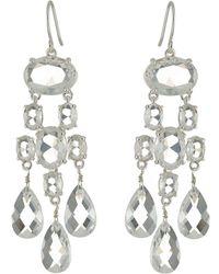 Lauren by Ralph Lauren | Faceted Stones Chandelier Earrings | Lyst