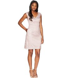 Adrianna Papell - Short Guipure Lace Dress - Lyst