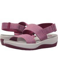 9225211f0eac95 Clarks - Arla Jacory (navy white Polka Dot Elastic) Women s Sandals - Lyst