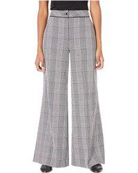 Boutique Moschino - Plaid Wide Leg Pants (plaid Print Black/white/pink) Women's Casual Pants - Lyst