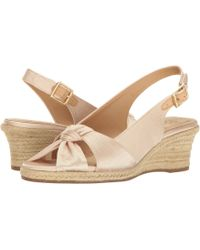 e90a2d6b1225 Lyst - UGG Lucianna Silk Leather Espadrille Wedges in Pink