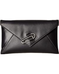 AllSaints - Nancy Clutch (natural/grey) Handbags - Lyst