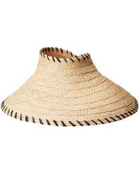 Hat Attack - Roll-up Travel Visor W/ Whipstitch Edge (natural/black) Traditional Hats - Lyst