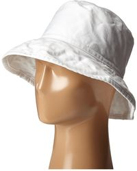 Hat Attack - Washed Cotton Crusher (black) Caps - Lyst