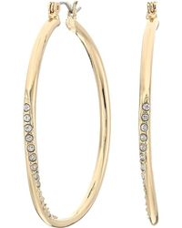Guess - Hoop With Stones Earring - Lyst