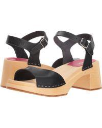 Swedish Hasbeens - Mia (black) Women's Sandals - Lyst