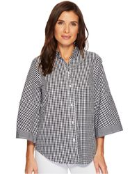 Lauren by Ralph Lauren - Gingham Bell-sleeve Shirt - Lyst