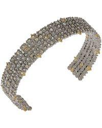 Alexis Bittar - Crystal Lace Cuff Bracelet (rhodium/10k Gold) Bracelet - Lyst
