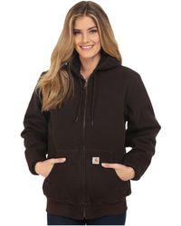 Carhartt - Sandstone Active Jacket (dark Brown) Women's Coat - Lyst