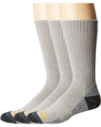 Timberland - Poly Crew (white) Men's Crew Cut Socks Shoes - Lyst