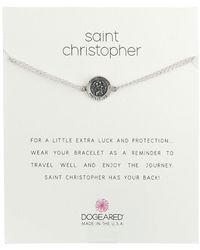 Dogeared - St. Christopher Chain Bracelet (gold Dipped) Bracelet - Lyst