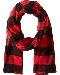 Polo Ralph Lauren - Lightweight Buffalo Check Scarf (new Red/black) Scarves - Lyst