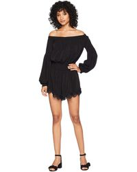 Bishop + Young - Gigi Off Shoulder Romper (black) Women's Jumpsuit & Rompers One Piece - Lyst