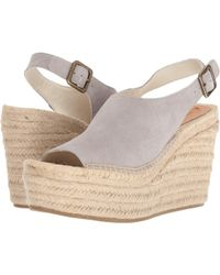 0a10978541aa Soludos - Sevilla Platform Wedge (stone) Women s Shoes - Lyst